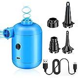 Pompa ad aria elettrica, pompa elettrica con 4 tipi di ugelli, pompa ad aria elettrica, pompa ad aria per materasso gonfiabile, cuscino, barca, galleggiante