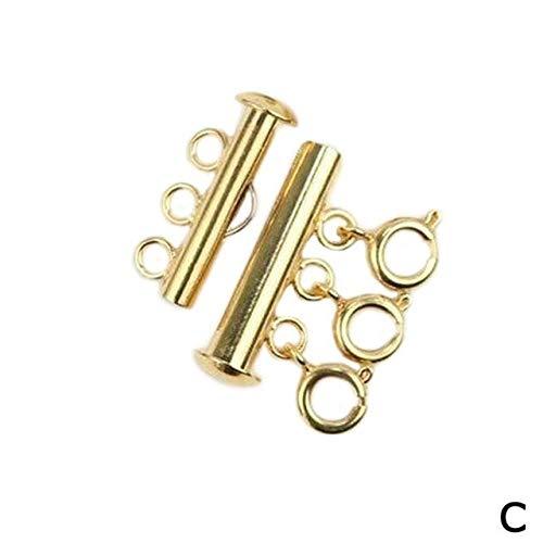 YUYANG 1pcs Collar Conectar Hebilla Multi Strand Collar Desenredar Collar Desenredante Collar Collar Cierre Joyería en capas Accesorios N2Q5