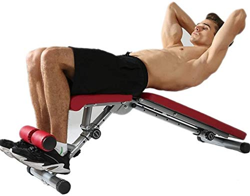 Cnley Conjunto de combinación de press de banco multifuncional Banco de peso plegable Banco de prensa taburete Sit-up silla de entrenamiento, equipo de fitness silla de entrenamiento abdominal