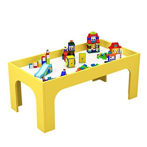 ROCKION Deluxe Hardwood activiteit speeltafel voor kinderen, massief hout kinderen zand tafel voor speelkamer/dagopvang/kleuterschool (kleurrijk)