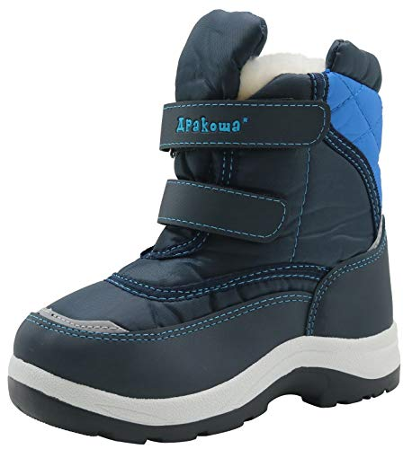 Apakowa 2017 New Kid's Boys Winter Snow Boots (Toddler/Little Kid) (6 M US Toddler, Blue2)