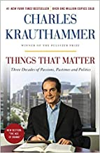 [By Charles Krauthammer ] Things That Matter: Three Decades of Passions, Pastimes and Politics (Paperback)【2018】by Charles...