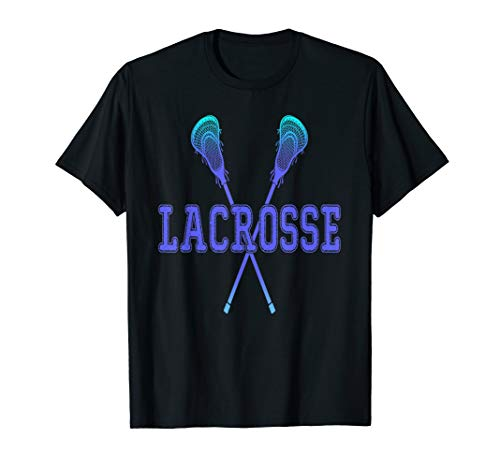 Lacrosse Shirt Girls Boy Tie-dye Crossed Sticks Cool T-shirt T-Shirt
