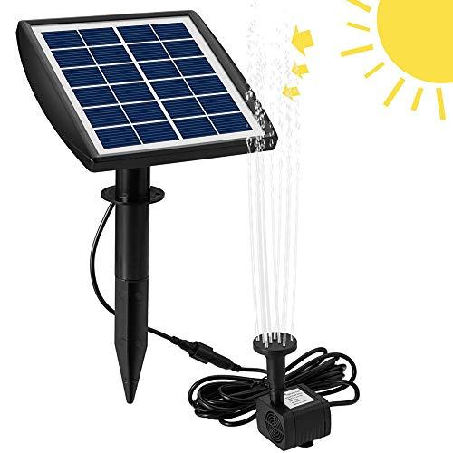 Bomba fuente energía solar Bomba agua solar de 6V / 2W con