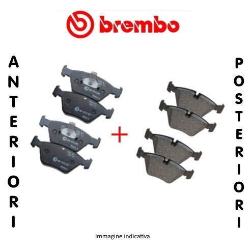 Ecommerceparts 9145375078405 - Juego de 4 pastillas de freno delanteras + kit de 4 pastillas de freno traseras ECP (Brembo)