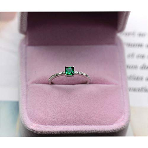 Green Emerald Ring, Created Emerald, Gold Plated Silver Ring, May Birthstone, Engagement Cocktail Wedding Ring, Art Deco Aesthetic