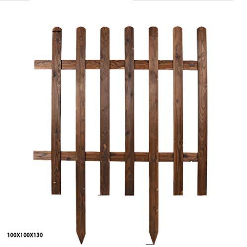 Aojing Perfekt for den Rasen, Restholz, Pflanzenkübel oder Garten Sectioning Außenrasenkanten, Holz Gras Rasen Blumenbeet Dekorative Zäune, 100x100cm, Brown