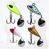 sylbx Artificial baitSet Esche da Pesca 4 Pezzi Artificiali Pesca Esche Cucchiaini Pesca Esche...