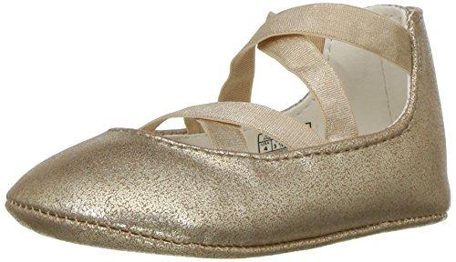 Polo Ralph Lauren Sapato infantil unissex Priscilla para berço, Brilho dourado, 1 Infant