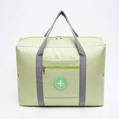 Travel Folding Luggage Thickened Waterproof Oxford Cloth Handbag Bag Round Bag-Light Green