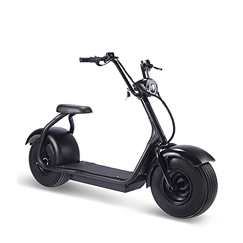 TOXOZERS Fat Tire Electric Scooter for Adult , 60V 18AH 2000W Lithium Commuter Citycoco Scooter Black , 32 MPH & 20 Miles Range , Adult Mobility Scooters , LED Light , 450lbs Max Weight Capacity
