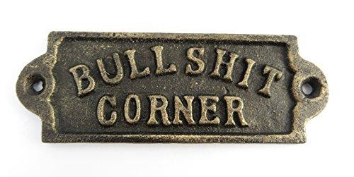 Enseigne Bull Shit Corner Fonte Coole Décoration Murale Plaque murale métal américain USA