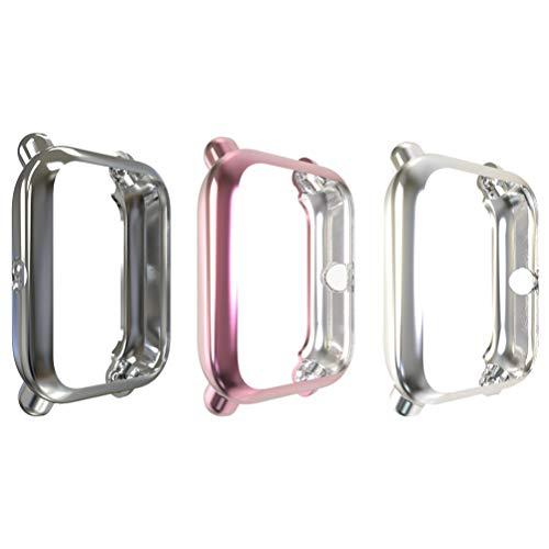 Baluue Carcasas Protectoras de Smartwatch Compatibles con Amazfit Bip/Bip S Protector de Pantalla de Reloj Inteligente Protector de Pantalla Bisel de Reloj Inteligente Cubierta de Reloj