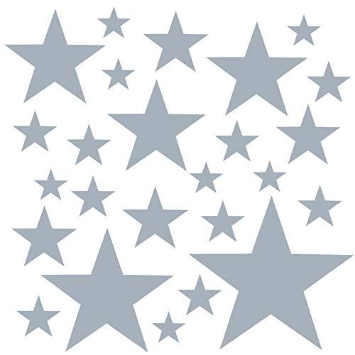 PREMYO Set de 25 Stickers Muraux Enfants Étoiles - Autocollants Décoration Murale Chambre Bébé -...