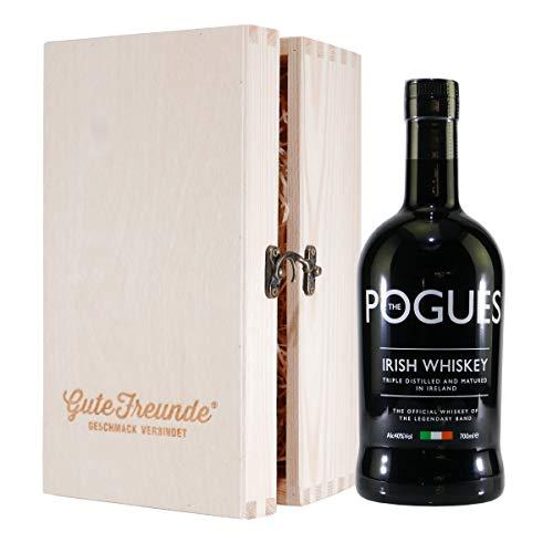 The Pogues Irish Whiskey mit Geschenk-Holzkiste