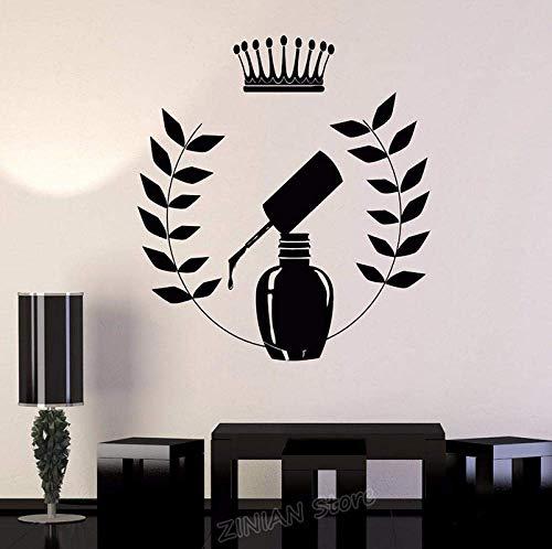 Nagellack Aufkleber Home Decor Schlafzimmer Maniküre Nagel Salon Schönheit Dekoration Vinyl Wandtattoo Frau Mädchen Mode Aufkleber 42X47Cm