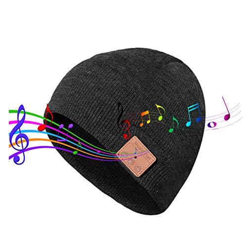 ZLSANVD Bluetooth Beanie Sombrero Auriculares, Smart Bluetooth 5.0 Beanie Music Hats, Steeo Sound Long Time, Hombres Mujeres Boys Girls Adolescentes Headwear Regalos