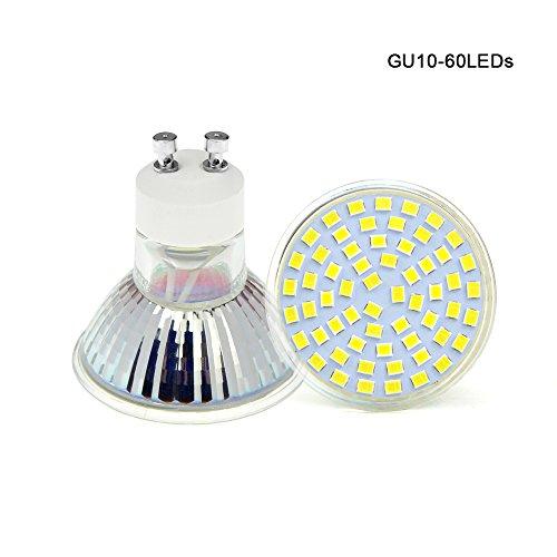 2PACK GU10 Halogen Light Bulbs LED Spotlight 60LEDs Cold White Warm White AC85-265V Light Bulb (Warmes Weiß, GU10)