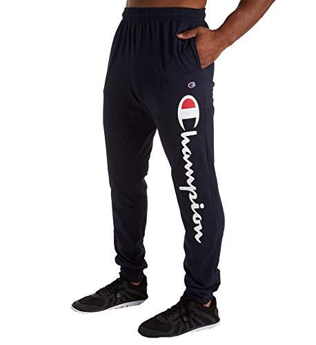 Champion Men's Classic Jersey Joggers, Navy-Y07234, Medium