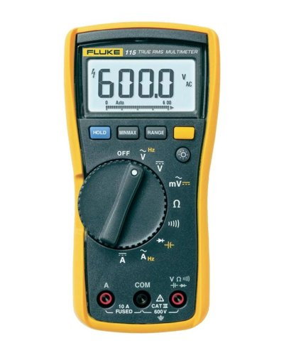 Fluke 115 Compact True-RMS Digital Multimeter with a NIST-Traceable Calibration Certificate with Data
