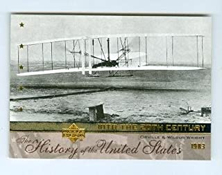 Wright Brothers trading card (Inventor Air Planes Flight) 2004 Upper Deck #20th7 Orville and Wilbur Wright