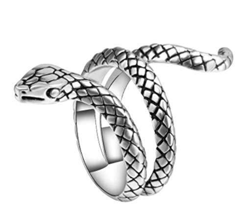 Anillo de serpiente ajustable, joyería de Halloween, regalo de serpiente para ella/él