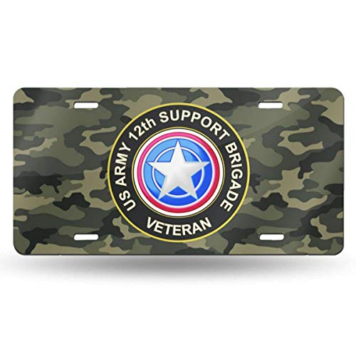 Army Veteran License Plate Frame Bundle with US Army Veteran Decal//Sticker and Support Our Troops Sticker//Decal LPO U.S