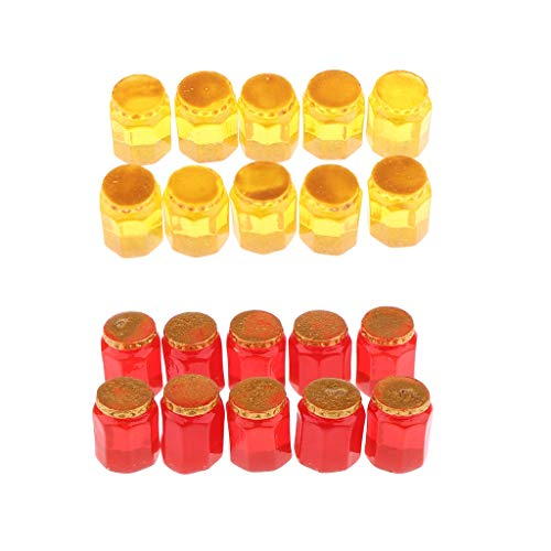 Miniature Dollhouse Accessories 1/12 Mini Honey Jars Dolls House Decorations, Pack of 20
