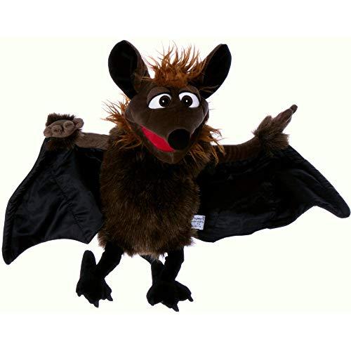 Living Puppets Handspieltier Gaston die Fledermaus braun-schwarz, Flügelspannweite 60 cm