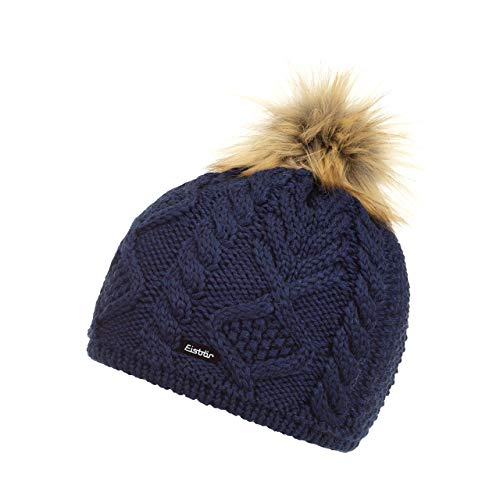 Eisbär Damen Mirella Lux Mütze, kobaltmele/AF Hellbraun, One Size