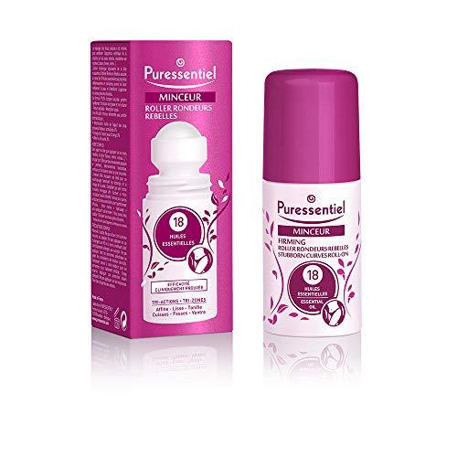 Puressentiel - Minceur - Roller Rondeurs Rebelles - Aux 18 huiles essentielles - Efficacité cliniquement prouvée - Action lissante - Cuisses, fesses, et ventre - 75 ml
