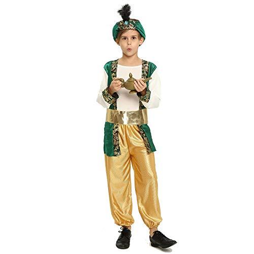 Upretty Kinder Halloween Kostüm Aladdin Arabische Lampe Prinz Prinzessin Mädchen Jungen Anzug Kleid Mütze Hut Party