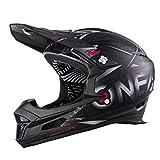 O'NEAL | Casco para Bicicleta de montaña | MTB Downhill | De Acuerdo con la Norma de Seguridad EN1078, la Cubierta Exterior de ABS | Fury Helmet SYNTHY | Adultos | Negro | Talla S