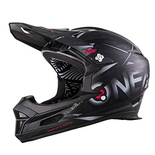 O\'NEAL | Mountainbike-Helm | MTB Downhill | Nach Sicherheitsnorm EN1078, Ventilationsöffnungen für Luftstrom & Kühlung, ABS Außenschale | Fury Helmet SYNTHY | Erwachsene | Schwarz | Größe M