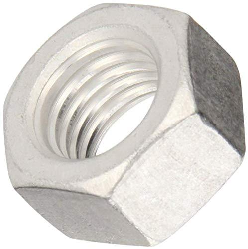 Aluminum Hex Nut, Plain Finish, ASME B18.2.2, 1/2