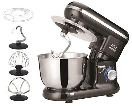Küchenmaschine | Rührmaschine | Teigmaschine | Knetmaschine | Teigkneter | 1000 Watt | 6 Geschwindigkeitsstufen | Pulsfunktion | 4,5 Liter |