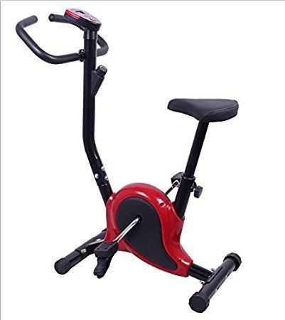 OnlineWorld steel Exercise Bike/Cycle, Maroon & Black