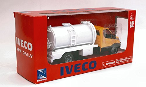 IVECO DAILY CISTERNA GIALLO 1:36 - New Ray - Camion - Die Cast - Modellino
