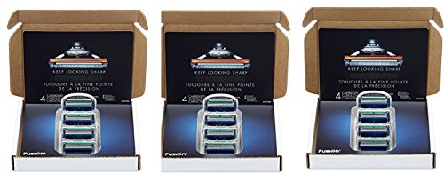 Gillette Fusion ProGlide Manual - Recambio para Cuchilla de Afeitar para Hombre, 3Pack (4 Cartridge)