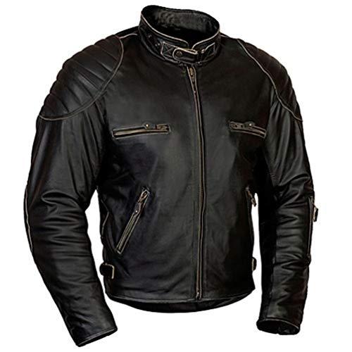 MoRaBe Motorradbekleidung Motorrad Lederjacke MBW Retro Jacke Rusty Größe 48