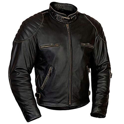 MoRaBe Motorradbekleidung Motorrad Lederjacke MBW Retro Jacke Rusty Größe 56