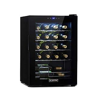 Klarstein-Shiraz-Uno-Weinkuehlschrank-Temperaturen-5-18-C-Energieeffizienzklasse-A-42-dB-Soft-Touch-Bedienfeld-6-Regaleinschuebe-Platz-fuer-28-Flaschen-Wein-schwarz