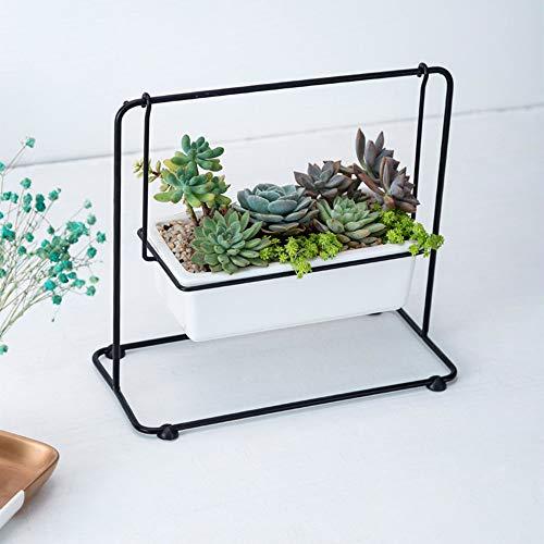 KinkGlass Geometrischer Blumentopf, übertopf Keramik Sukkulenten Töpfe Kaktus Zimmerpflanze, Geometrische Dekoration (B#)