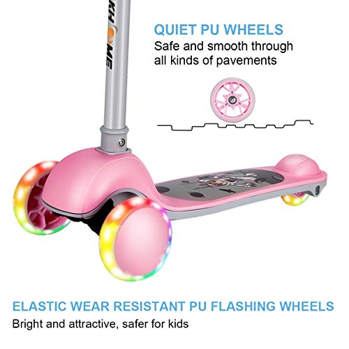 3 Wheel Scooters for Kids, Kick Scooter for toddlers Girls and Boys, Adjustable Heigh, Learn to Steer with Brake LED Light Up Wheels, Mini Scooter for Children Ages 3-6 Years Old