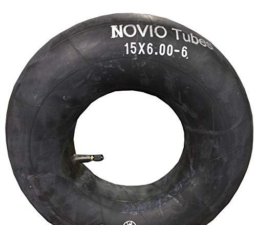 Schlauch 15 x 6.00-6 Rasenmäher, gerades Ventil, TOP-QUALITÄT, passend für Reifen von Aufsitzmäher, Rasentraktor, Rasentrecker