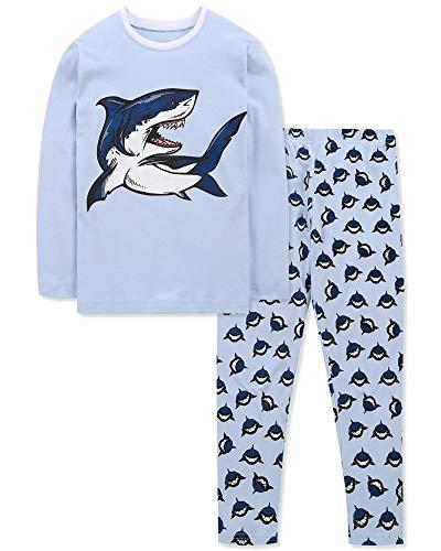 DAUGHTER QUEEN Pijama para Niños 3-4 Años Dos Piezas Pija Niño Ropa para bebés de 1 a 7 años Disfraz Tiburón Niño Pijama para Dormir para bebés y niños