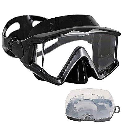 AQUA A DIVE SPORTS Scuba Snorkeling Dive Mask for Scuba Diving Snorkeling Free Diving (PC Lens Silver Black)