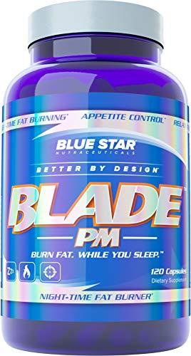 蓝星刀片PM夜间脂肪燃烧男性:改善睡眠质量和延迟,同时科学促进新陈代谢-燃烧身体脂肪和支持减肥,而你的睡眠,120减肥药