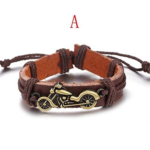 Jubuk Batman Leren armband voor heren en dames, handgemaakte ketting met parels, bedeltjes, accessoires, leer, diercharme