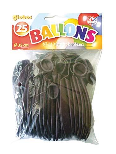 Sachet de 20 ballons 30 cm bordeaux nacrés Balloon'Art©